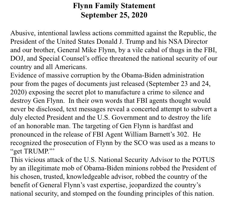 Flynn Family Statement 25 Sep 2020 1 of 2