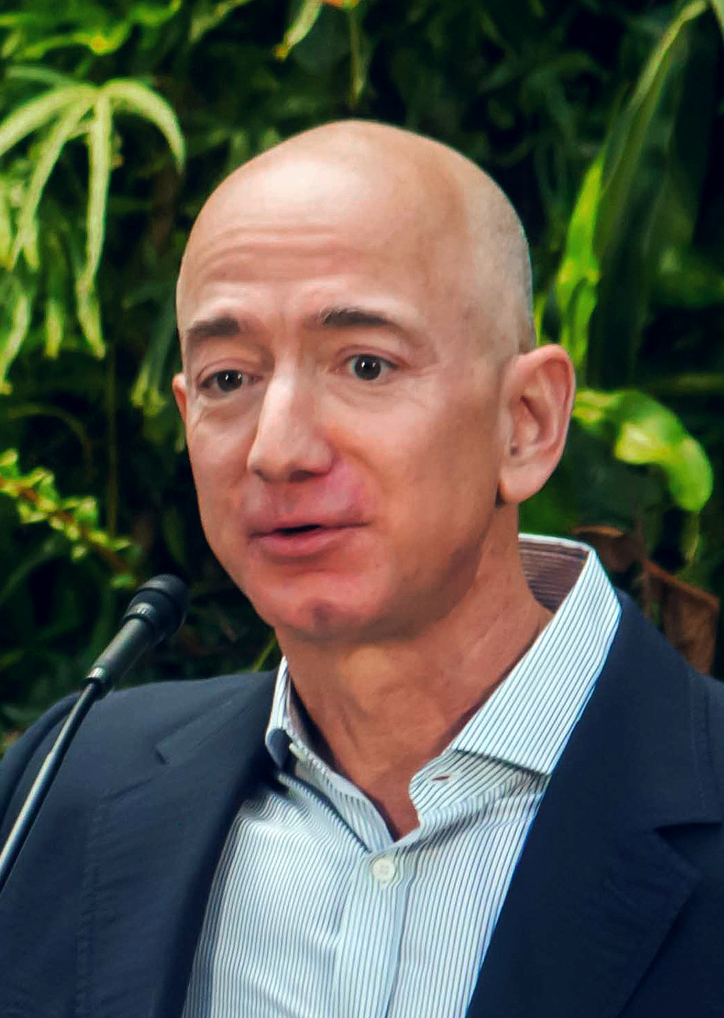 Jeff Bezos at Amazon Spheres Grand Opening in Seattle 2018 39074799225 cropped