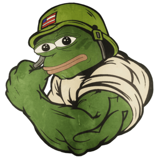 Pepe Soldier Flexing
