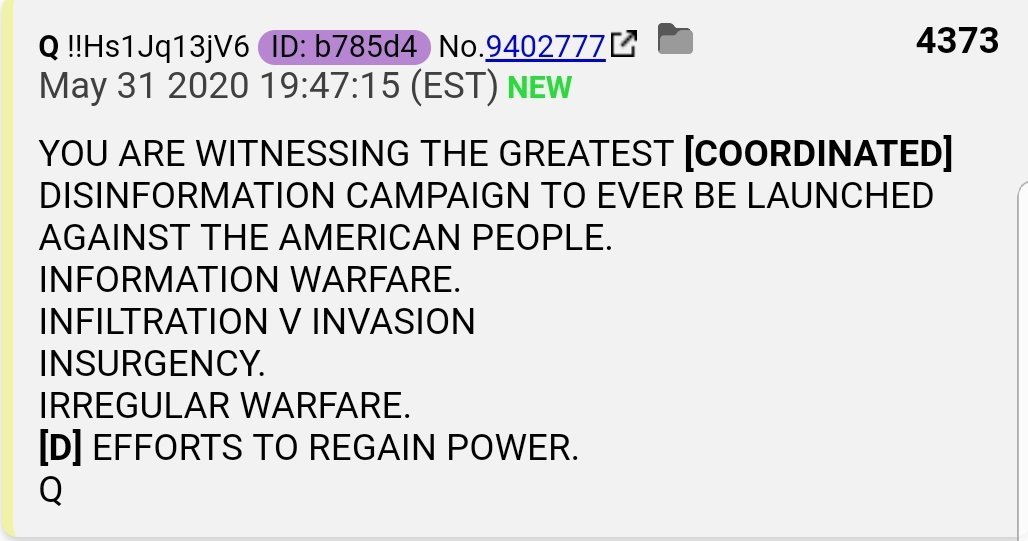 Q 4373 Greatest Disinfo Ever