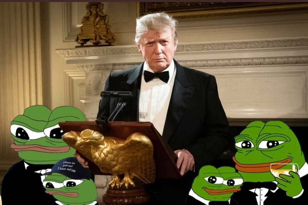 Trump with Pepes at WH Dinner Event