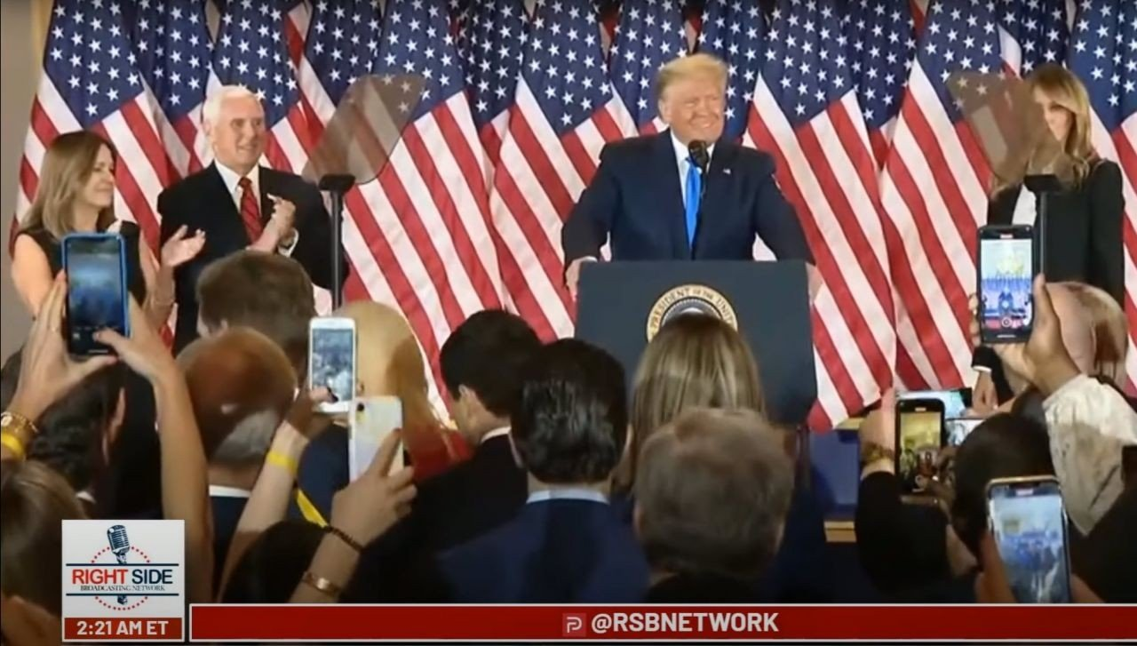 President-Trump-Makes-a-Statement-on-Election-Night
