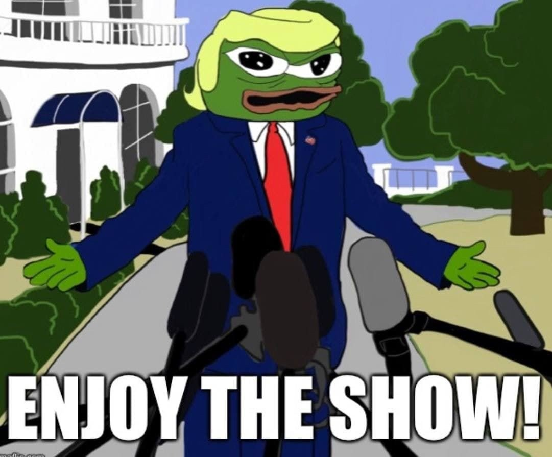 Cartoon-Meme-Trump-Pepe-Enjoy-the-Show