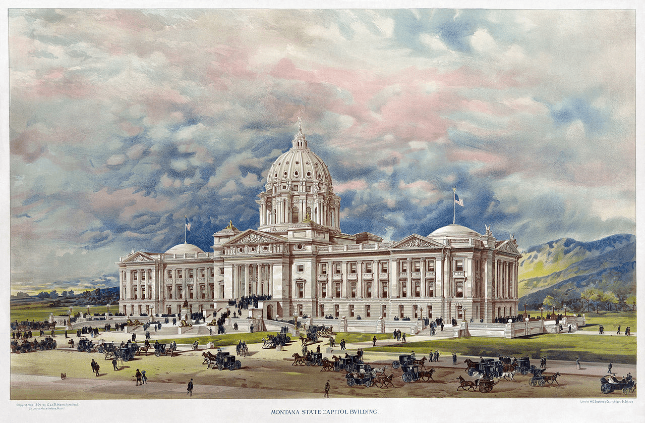 montana-state-capitol-building-old-painting
