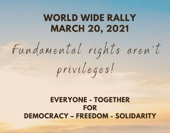 World Wide Rally For Freedom - #WeAreNotAlone #Justice [UPDATED DAILY]