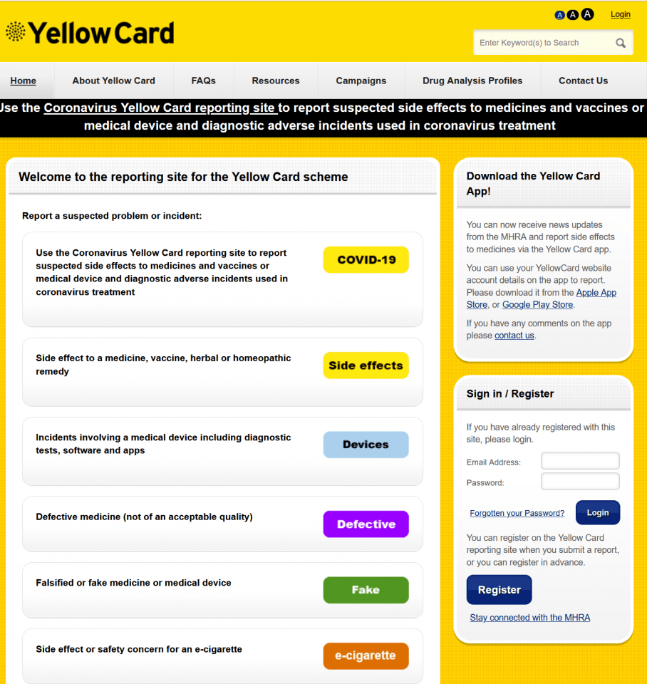 British-Yellow-Card