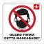 NON! au port obligatoire du masque en Suisse!