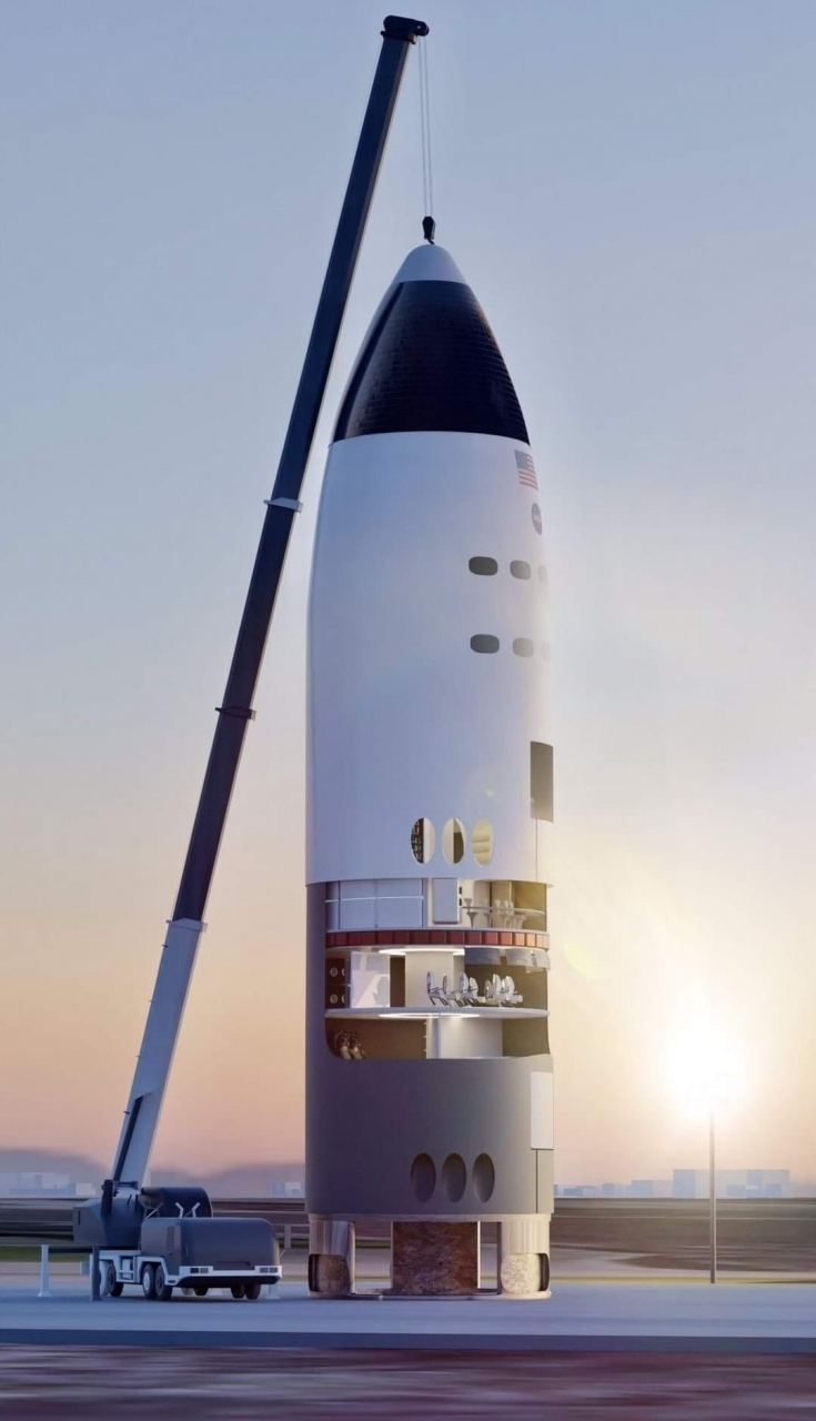 SpaceX MoonShip Rendering