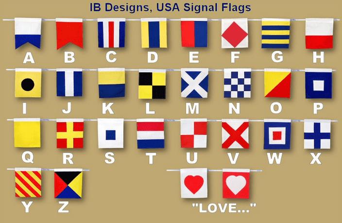 Signal Flags w love