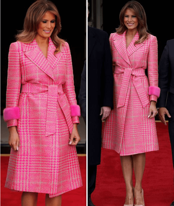 Melania Pink outfit valantines day 2018