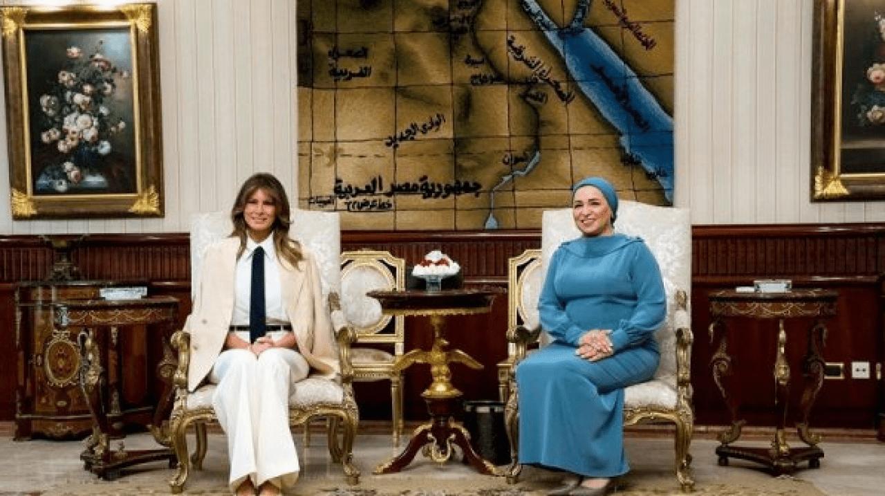 Melania African Tour Sisi