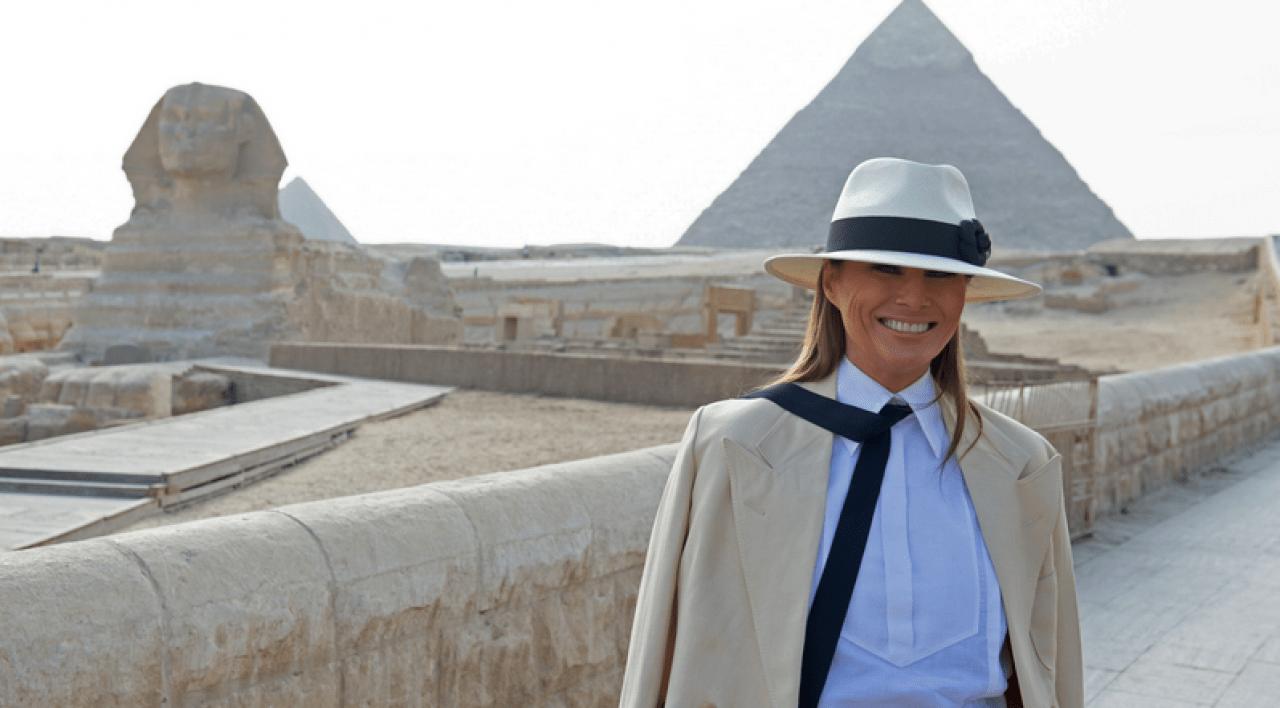 Melania Egypt pyramids Sphinx
