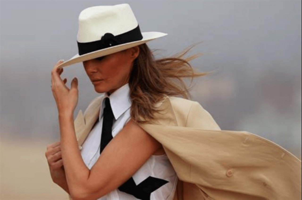 Melania Hat tip to who